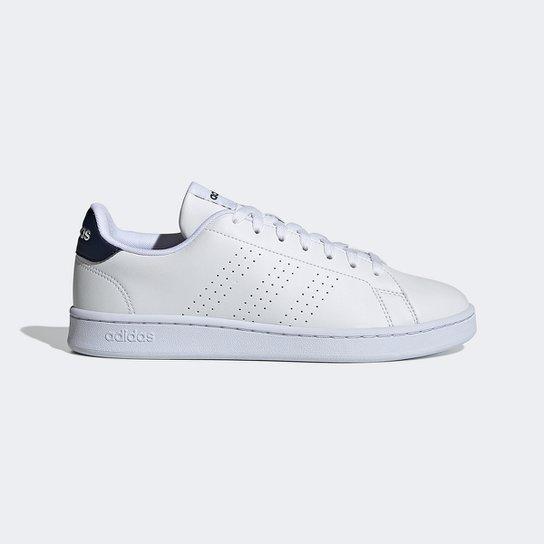 Tênis Adidas Advantage Masculino - Branco+Azul Claro