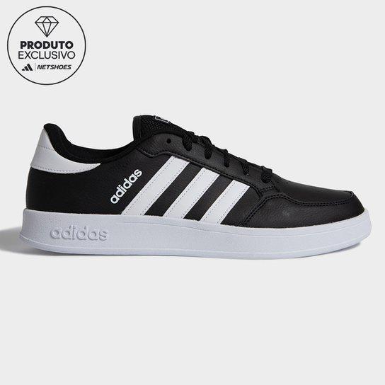 Tênis Adidas Breaknet Masculino - Preto+Branco