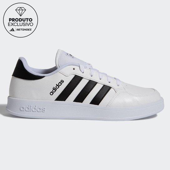 Tênis Adidas Breaknet Masculino - Branco+Preto