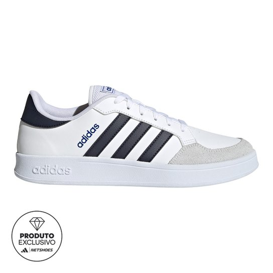 Tênis Adidas Breaknet Masculino - Branco+Azul