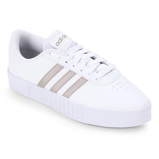 Tênis Adidas Court Bold Feminino - Branco+dourado