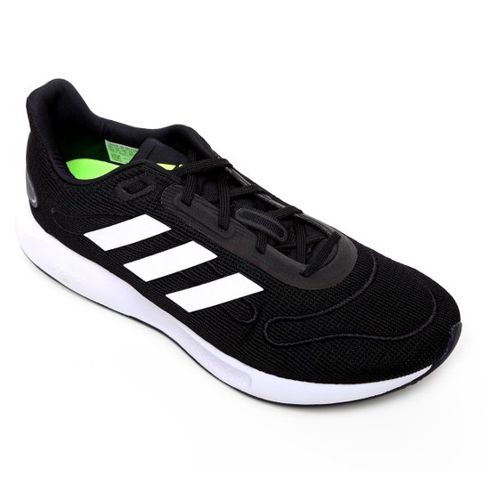 Tênis Adidas Galaxar Run Masculino - Preto+Branco