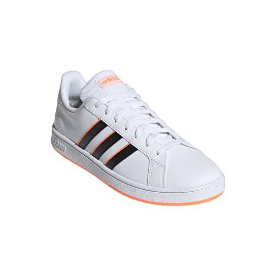 Tênis Adidas Grand Court Base Masculino - Branco+Preto