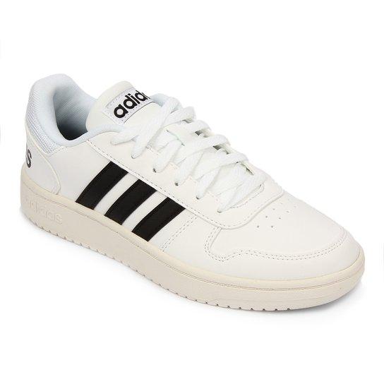 Tênis Adidas Hoops 2 0 Masculino - Branco+Preto