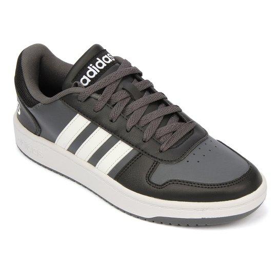 Tênis Adidas Hoops 2 0 Masculino - Preto+Cinza