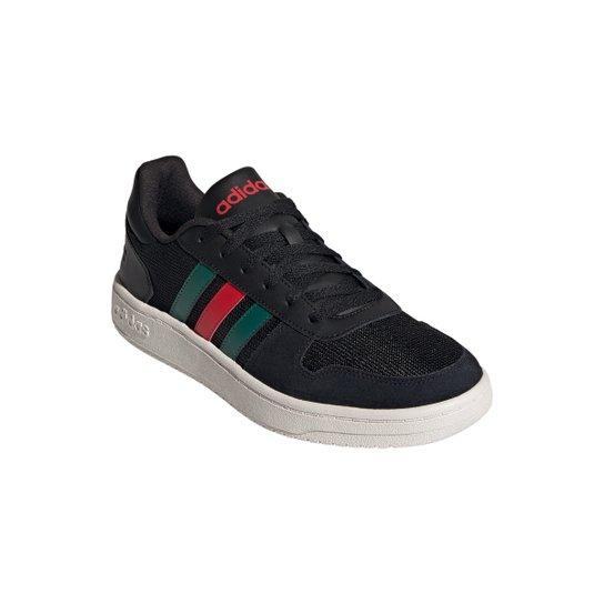 Tênis Adidas Hoops 2.0 Masculino - Preto+verde