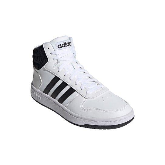 Tênis Adidas Hoops 2.0 Mid Masculino - Branco+Preto