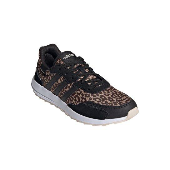 Tênis Adidas Retrorun Leopard Feminino - Bege+Preto
