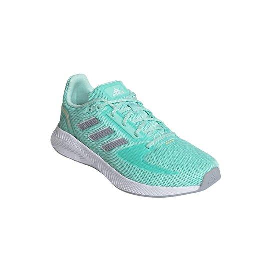 Tênis Adidas Runfalcon 2.0 Feminino - Verde+Prata