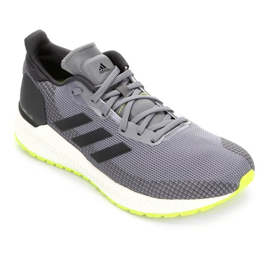 Tênis Adidas Solar Blaze Masculino - Cinza+Preto