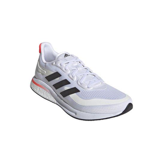 Tênis Adidas Supernova+ Boost Masculino - Branco+Laranja
