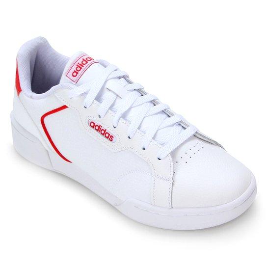 Tênis Couro Adidas Roguera Masculino - Gelo+Vermelho