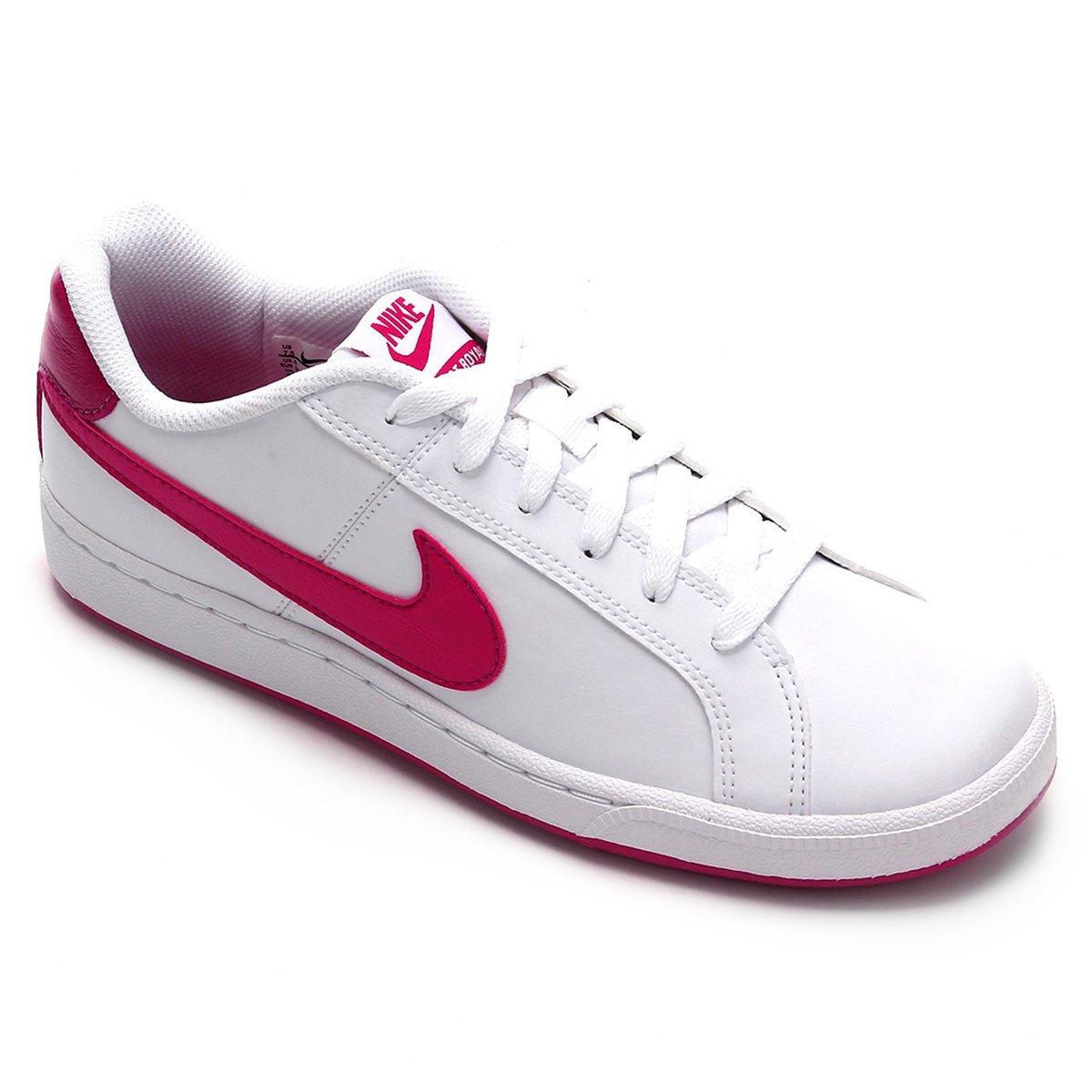 Tênis Couro Nike Court Royale Feminino Branco E Vermelho