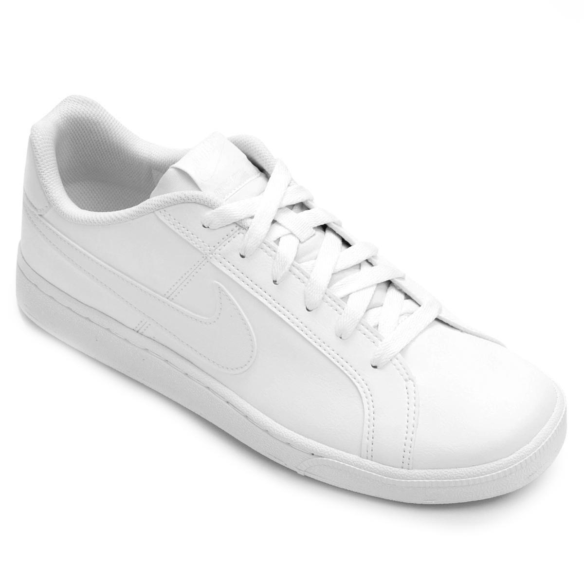 e3c90221511 Tênis Couro Nike Court Royale Masculino - Branco - Compre Agora ...