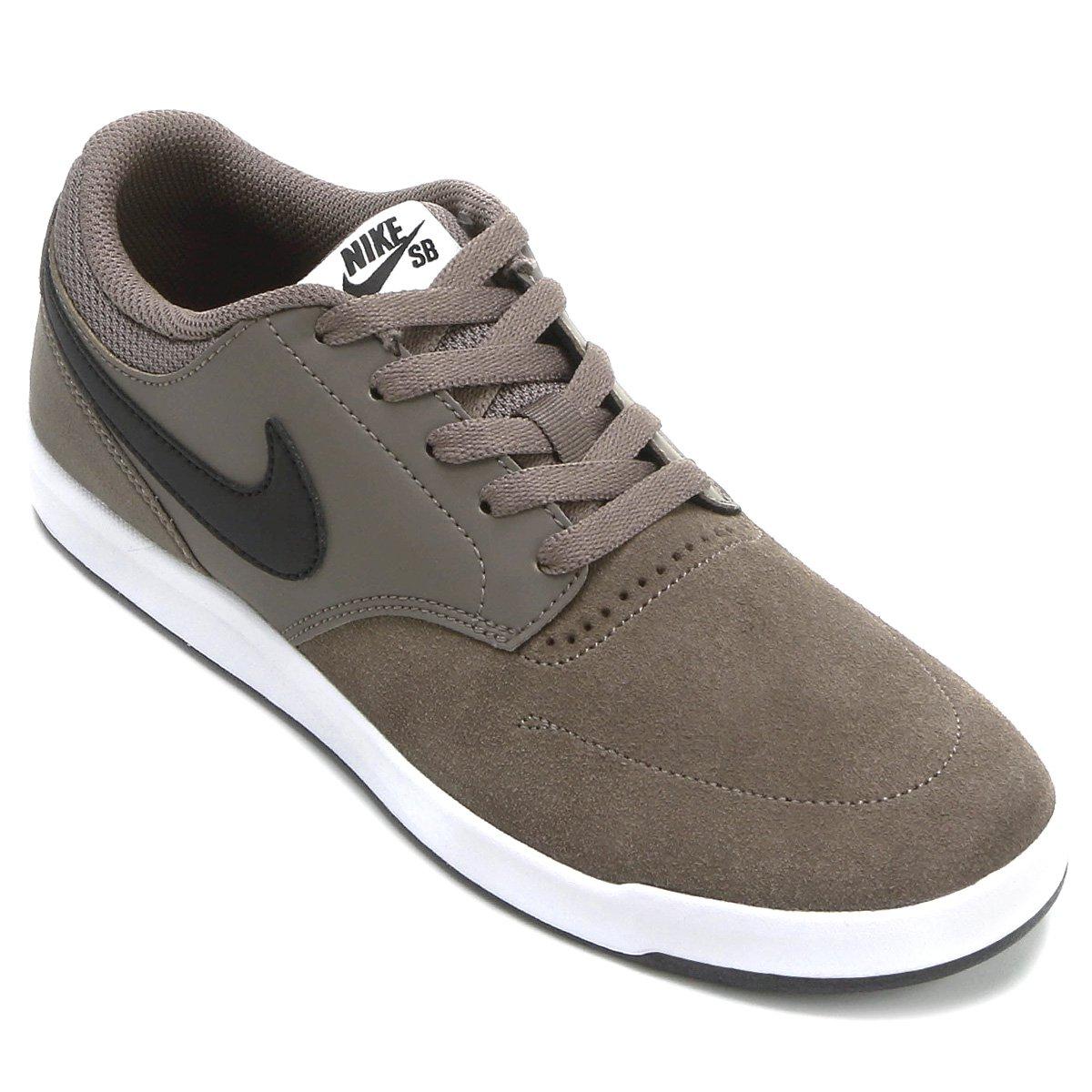 2d5175c8e4 Tênis Couro Nike SB Fokus Masculina - Marrom Claro e Preto - Compre ...