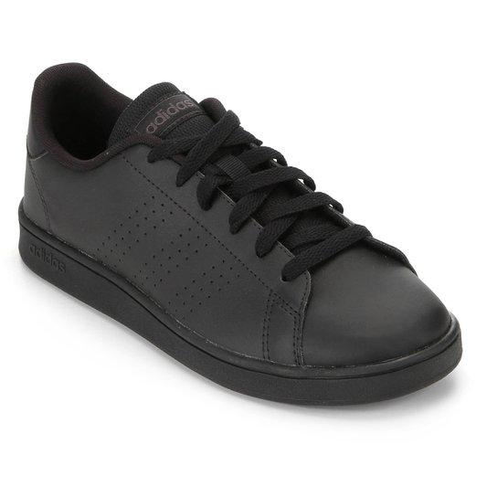 Tênis Infantil Adidas Advantage K Perfuros - Preto+Cinza