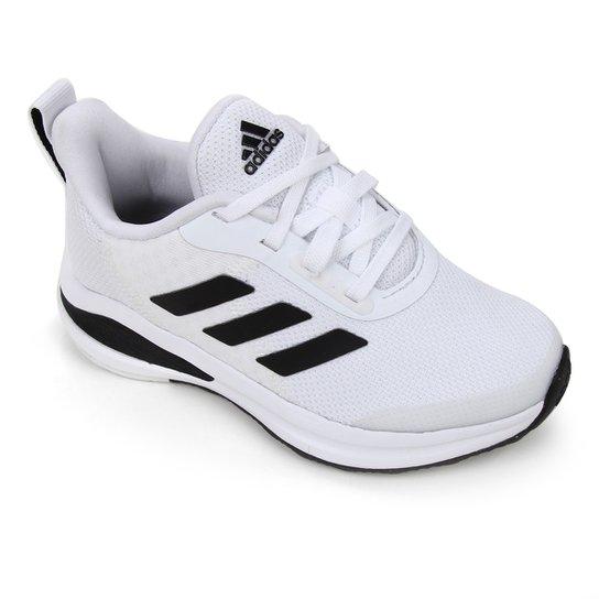 Tênis Infantil Adidas Fortarun K - Branco+Preto