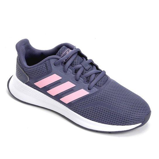 Tênis Infantil Adidas Runfalcon - Cinza+Rosa