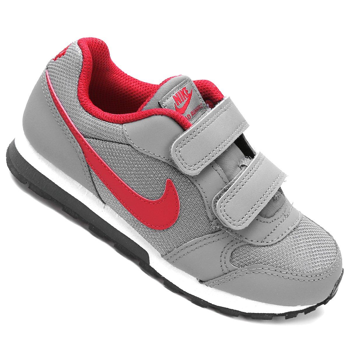 ba565d5b5b2a2 Tênis Infantil Nike Md Runner 2 - Cinza e Vermelho - Compre Agora ...
