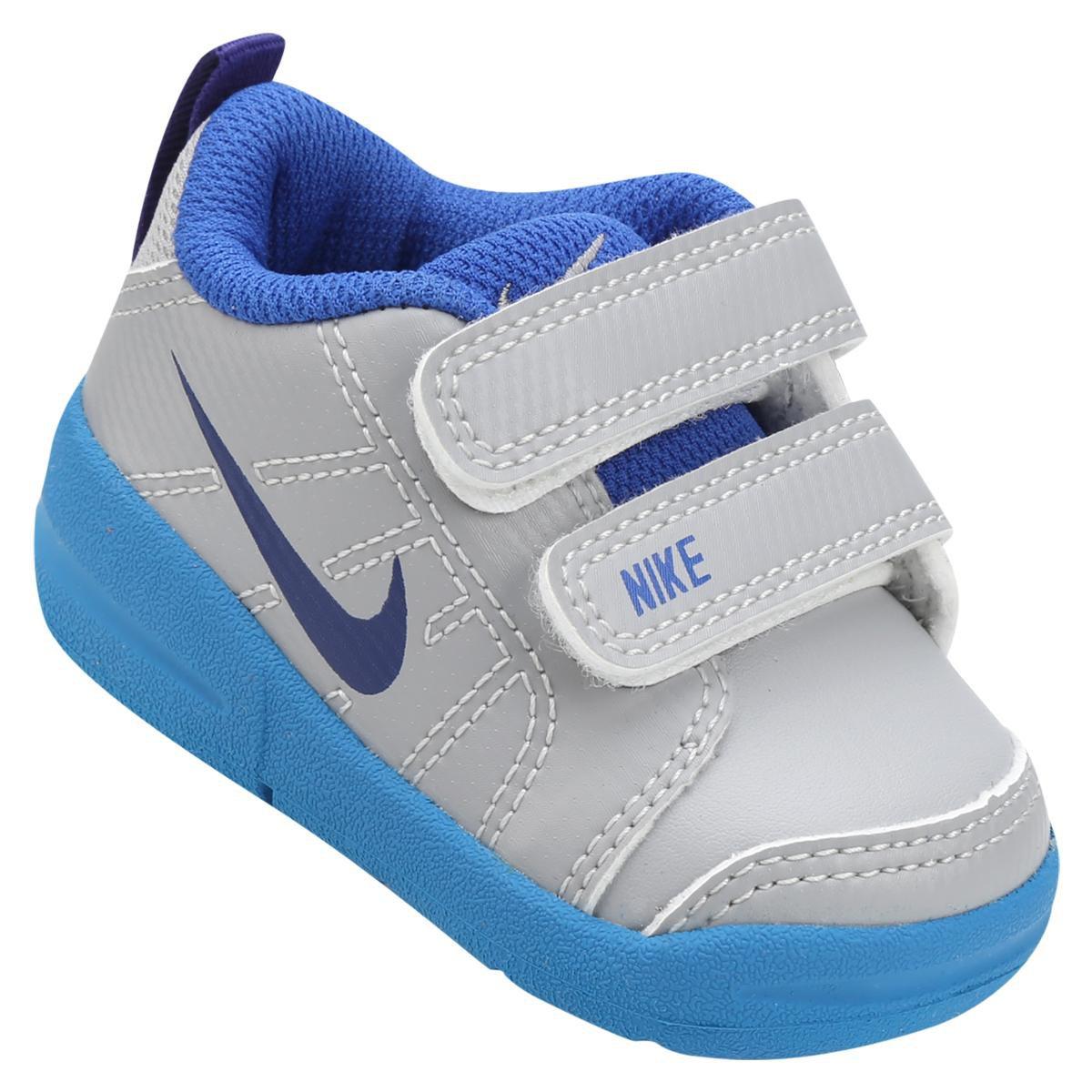 69ec484f28d Tênis Infantil Nike Pico Lt Masculino - Cinza e Azul Claro - Compre Agora