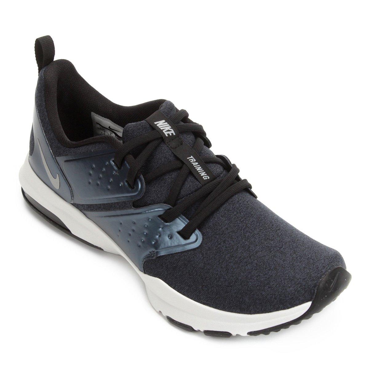 28e5ea69b69 Tênis Nike Air Bella Tr Premium Feminino - Preto e Prata - Compre Agora