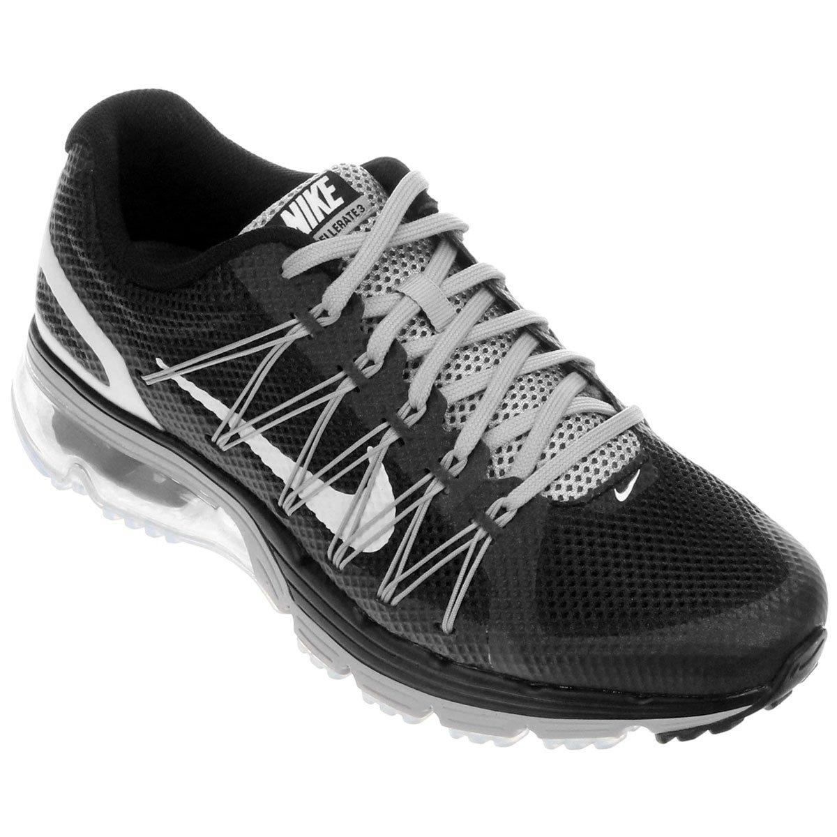 86da7270a2b Tênis Nike Air Max Excellerate 3 Masculino - Preto+Prata. R  329