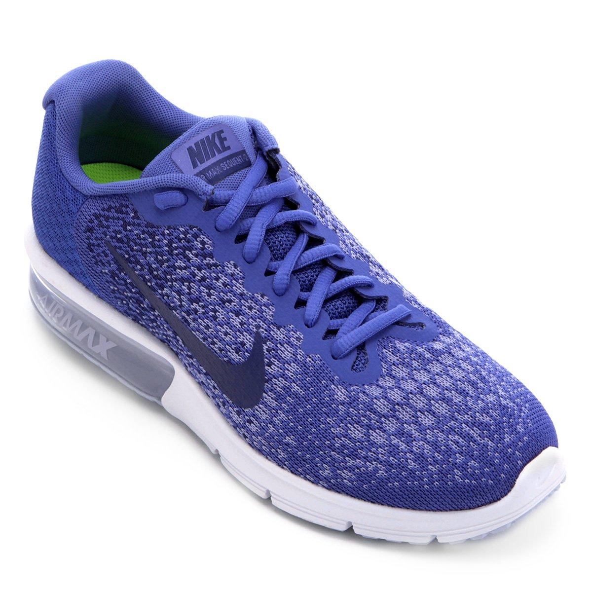 Tênis Nike Air Max Sequent 2 Feminino - Azul Royal - Compre Agora ... de42cb459b080