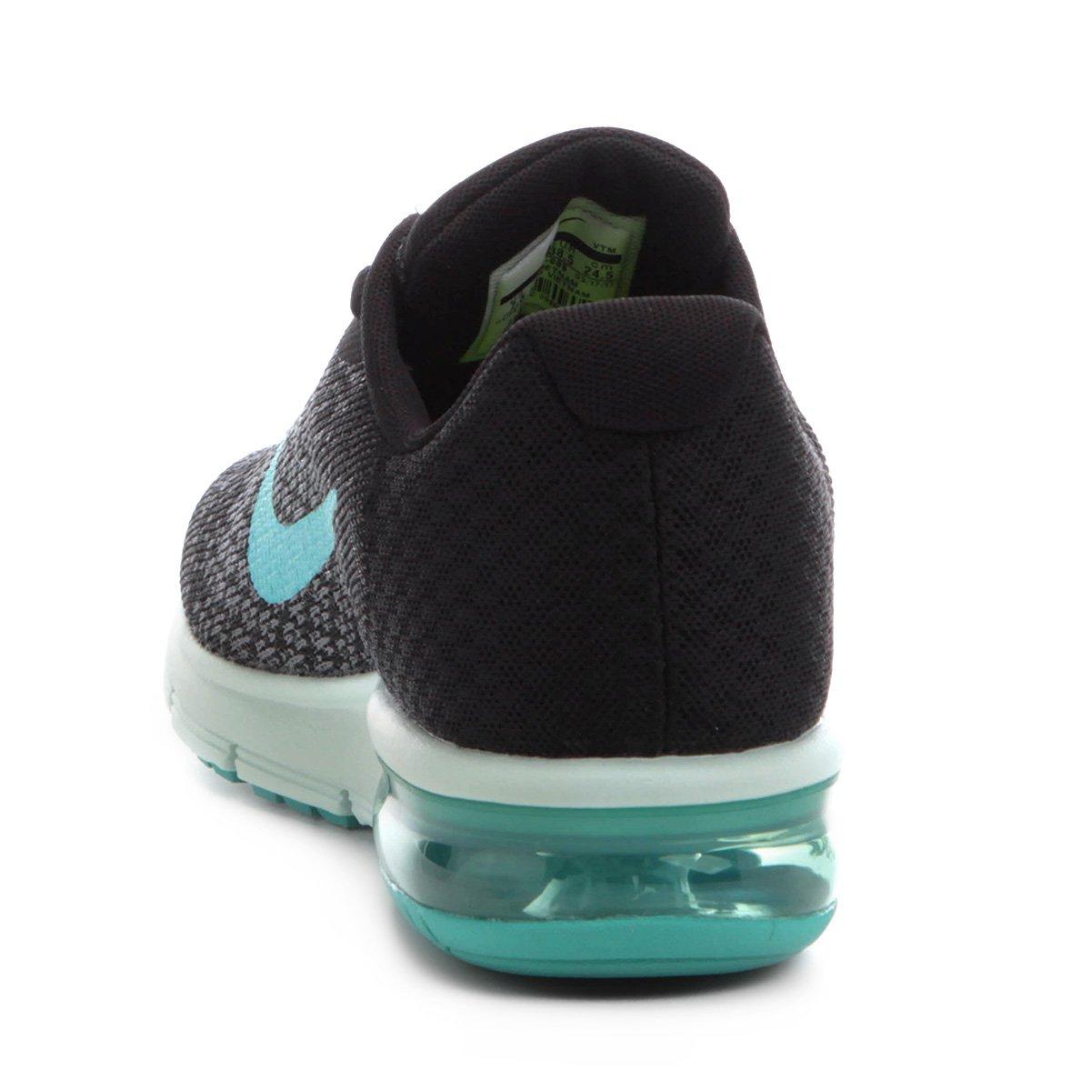 Tênis Nike Air Max Sequent 2 Feminino Preto E Verde água
