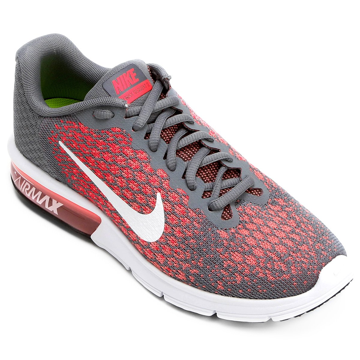 the latest 32268 86af1 ... denmark tênis nike air max sequent 2 feminino cinzavermelho d421d 735fe