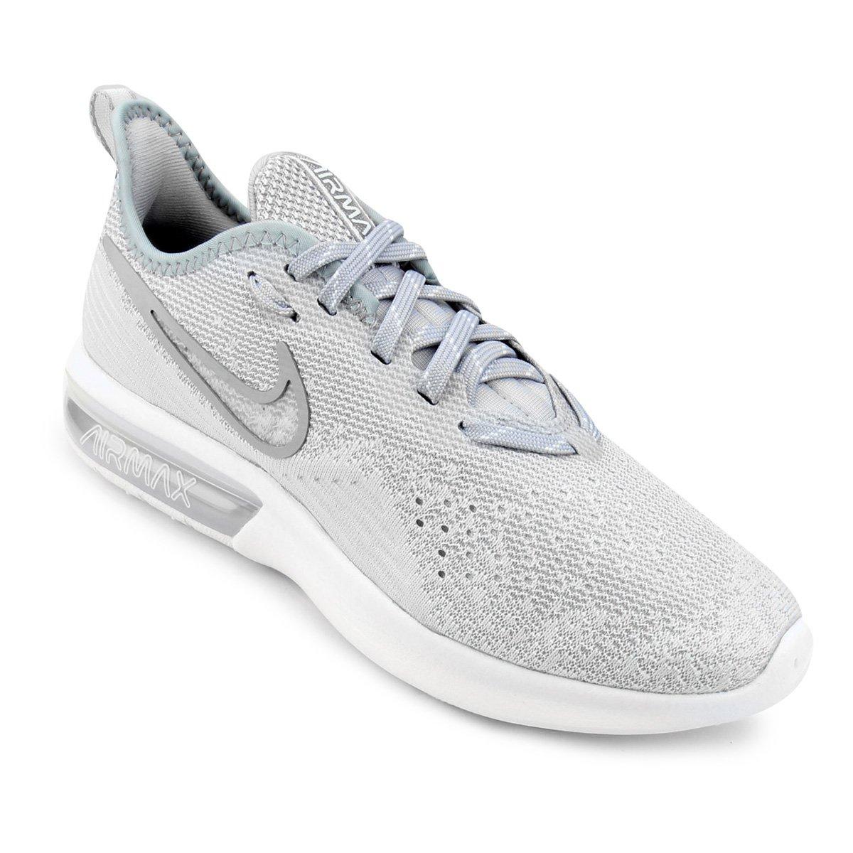 Tênis E Air 4 Branco Feminino Nike Max Sequent Cinza 5Rj3AL4
