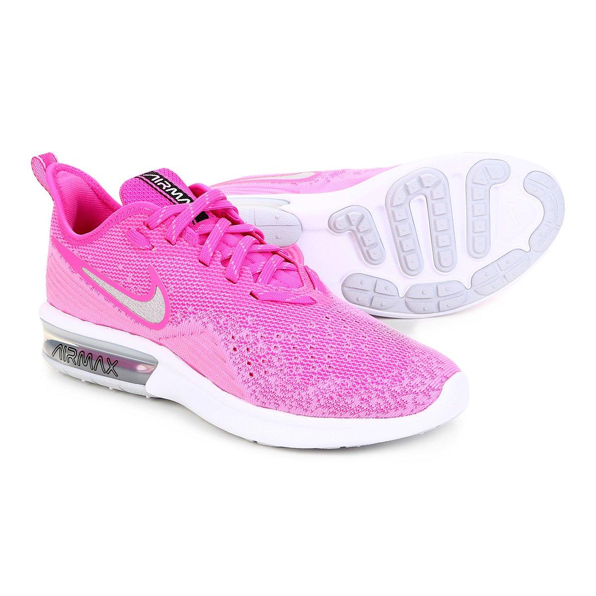 Tênis Nike Air Max Sequent 4 Feminino Rosa Loja Do Inter
