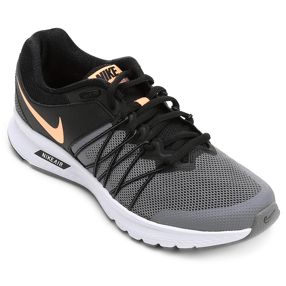 59a450b3fde Tênis Nike Air Relentless 6 MSL Feminino - Preto e Cinza - Compre Agora