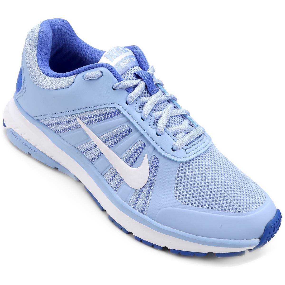 1a45ca7de58 Tênis Nike Dart 12 MSL Feminino - Azul Claro e Azul - Compre Agora ...