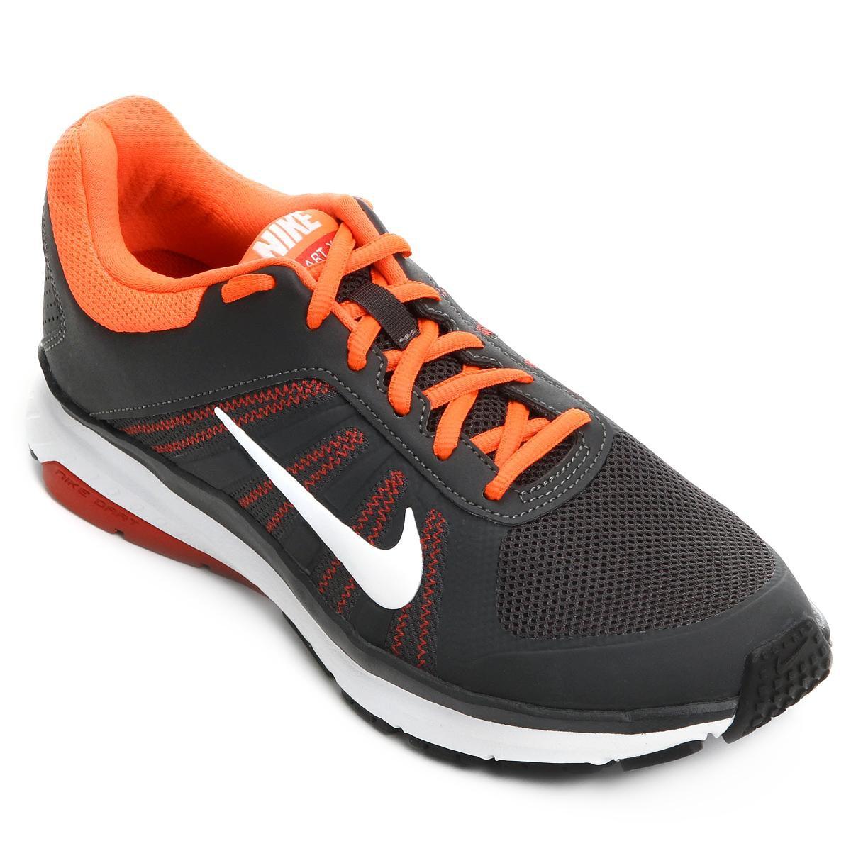 59fc2578b82 Tênis Nike Dart 12 MSL Masculino - Chumbo e Laranja - Compre Agora ...