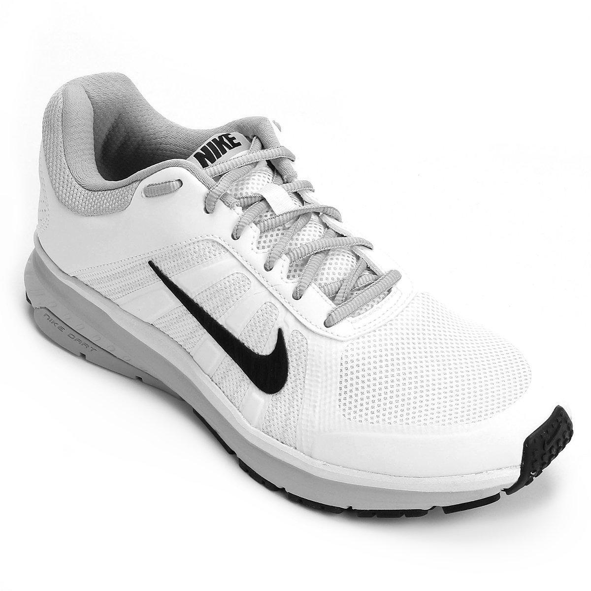 Tênis Nike Dart 12 MSL Masculino - Branco e Preto - Compre Agora ... 53c102cd2fad3