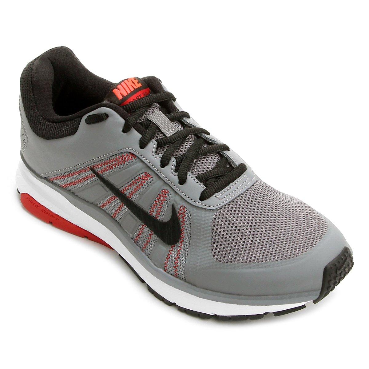 ec03c60e339 Tênis Nike Dart 12 MSL Masculino - Cinza e Preto - Compre Agora ...