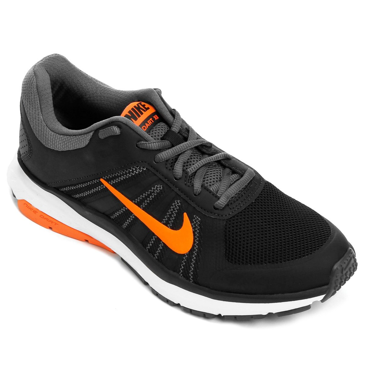 76b2ebf87 Tênis Nike Dart 12 MSL Masculino - Preto e Laranja - Compre Agora ...