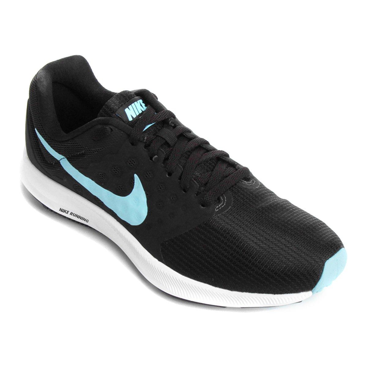 4f14a44d5dd Tênis Nike Downshifter 7 Feminino - Preto e Azul - Compre Agora ...