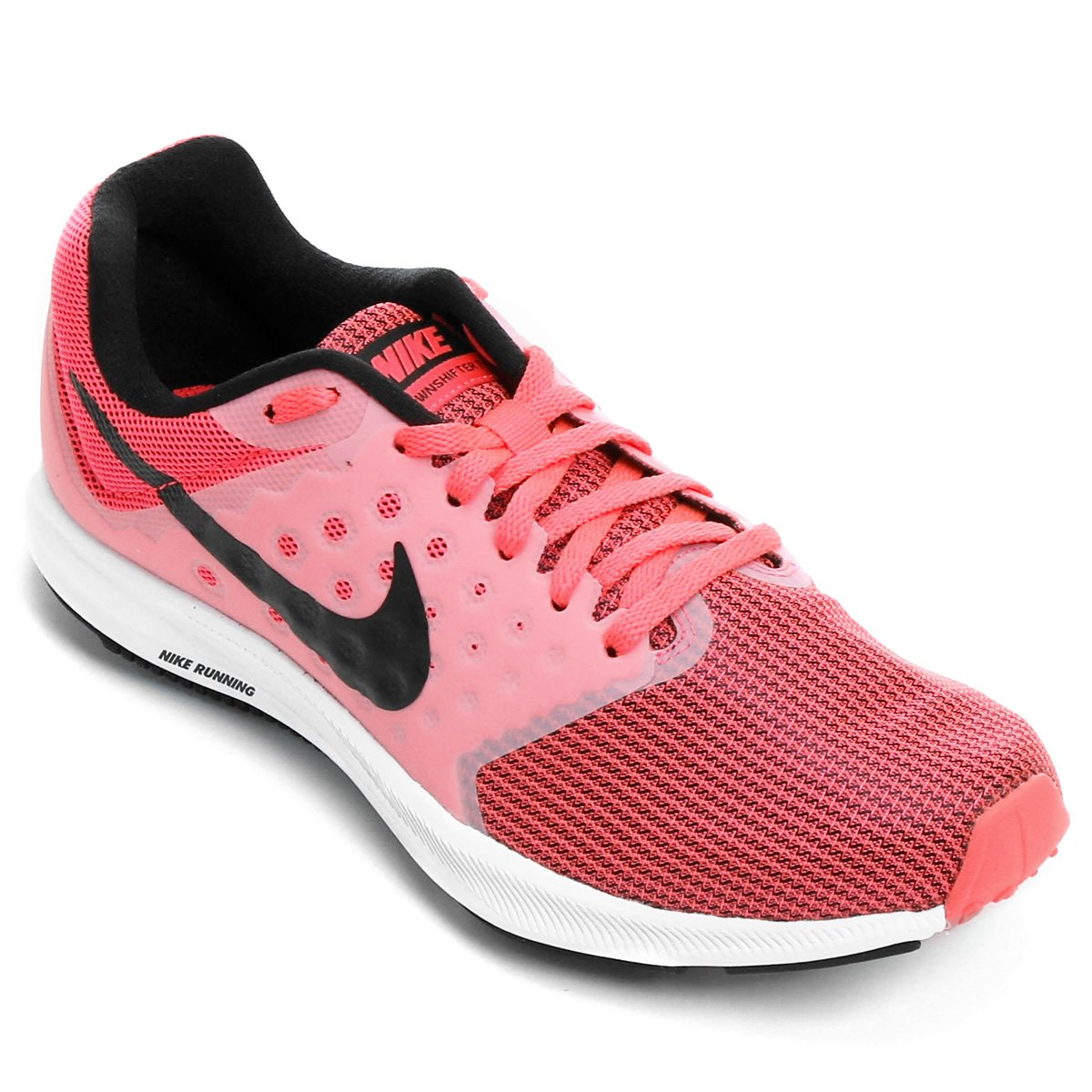 e9748595aa Tênis Nike Downshifter 7 Feminino - Rosa e Preto - Compre Agora ...