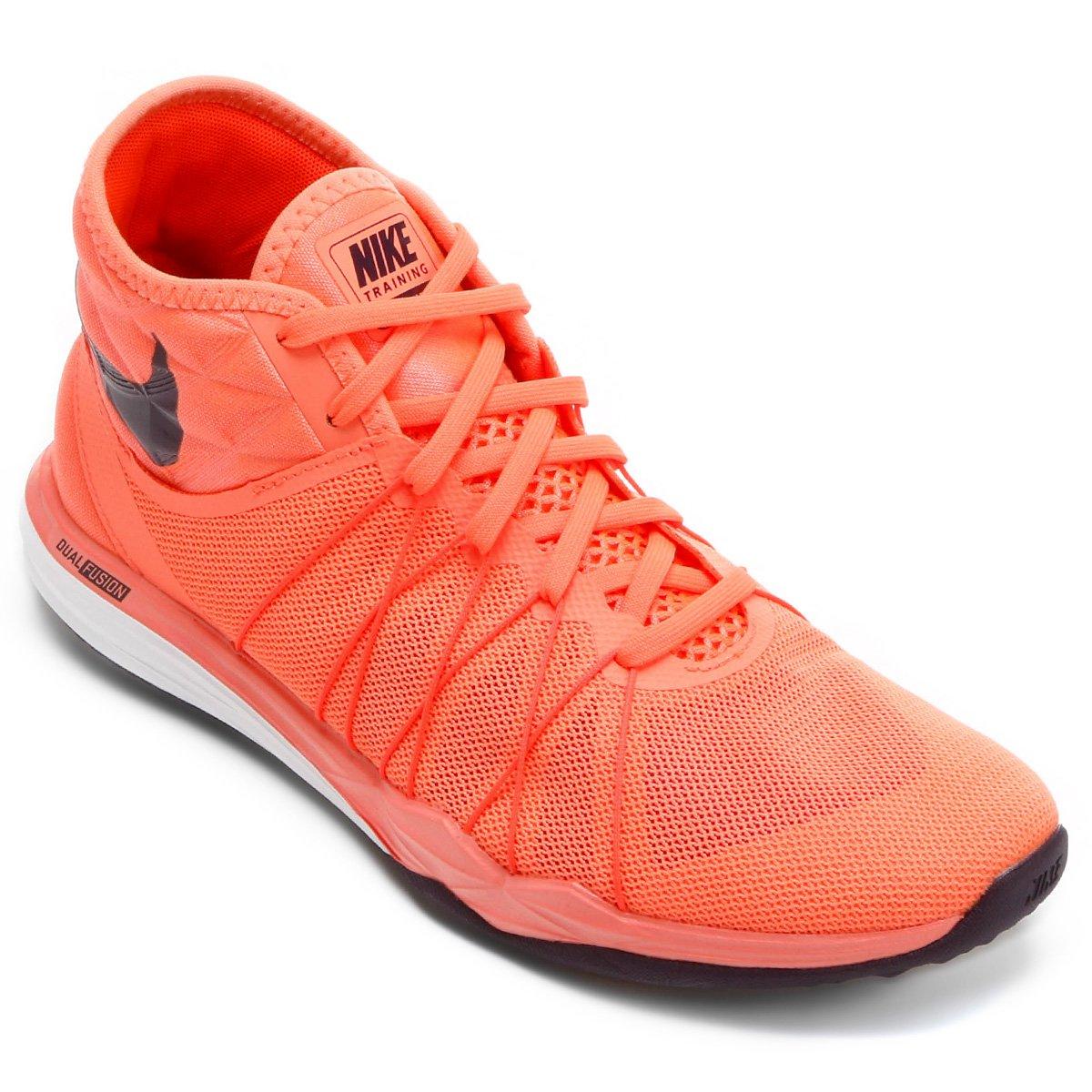 21eaa55bca3 Tênis Nike Dual Fusion TR Hit Feminino - Laranja e Preto - Compre Agora