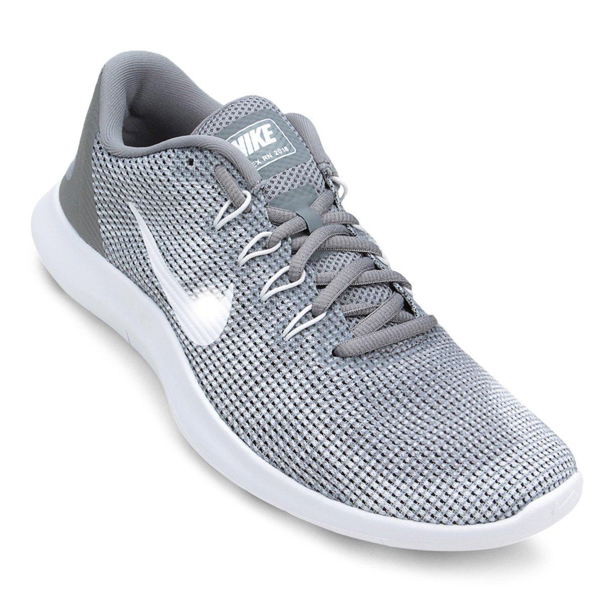 ec05f37fe8dca Tênis Nike Flex 2018 Rn Masculino - Cinza e Branco - Compre Agora ...