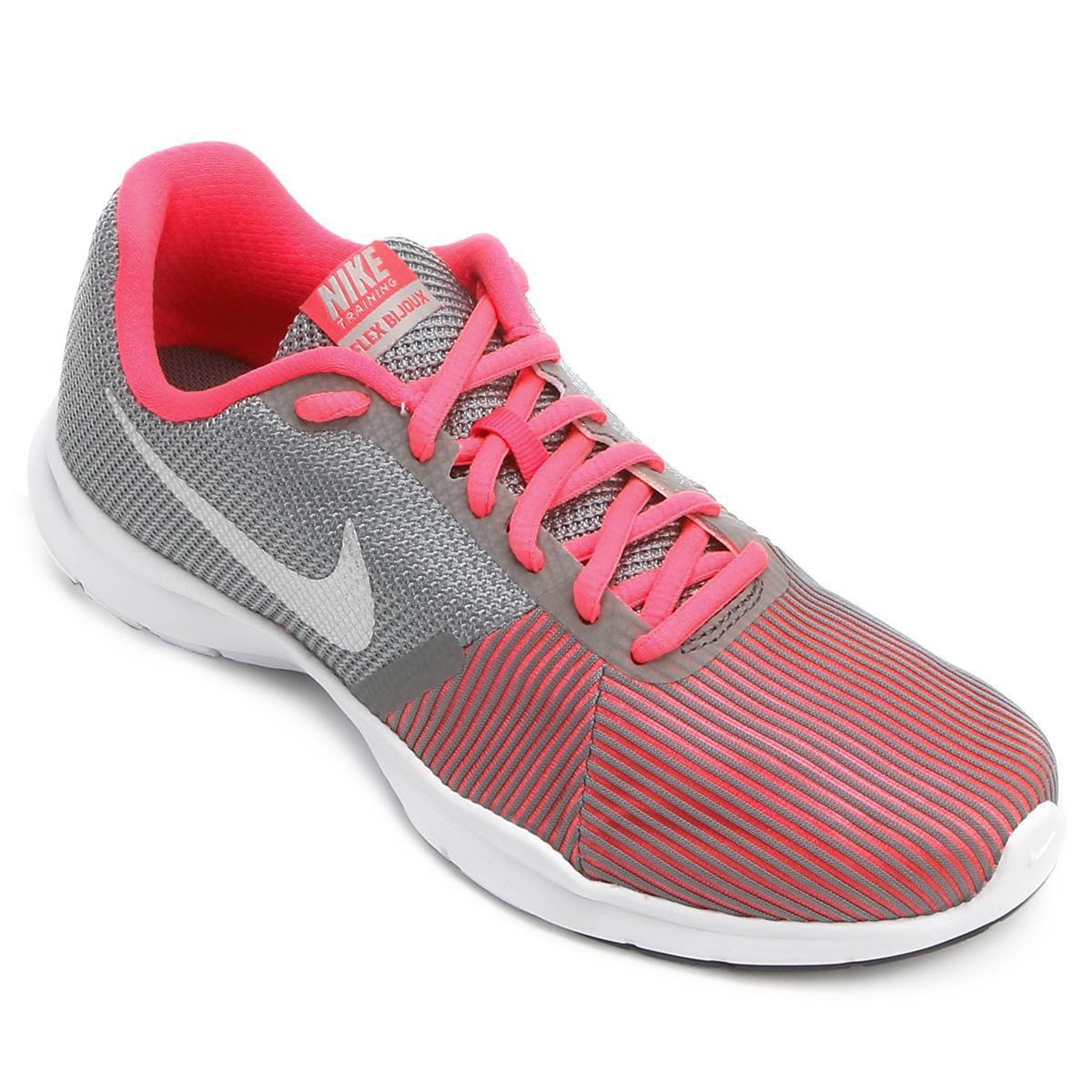 77dfe9694 Tênis Nike Flex Bijoux Feminino - Cinza e Rosa - Compre Agora