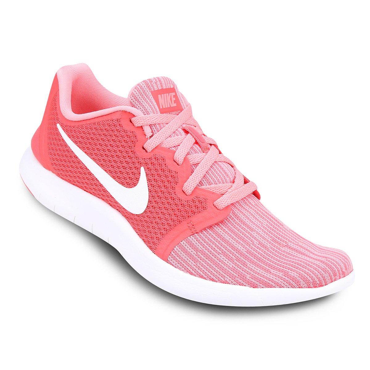 54e334a9e Tênis Nike Flex Contact 2 Feminino - Rosa e Branco | Loja do Inter