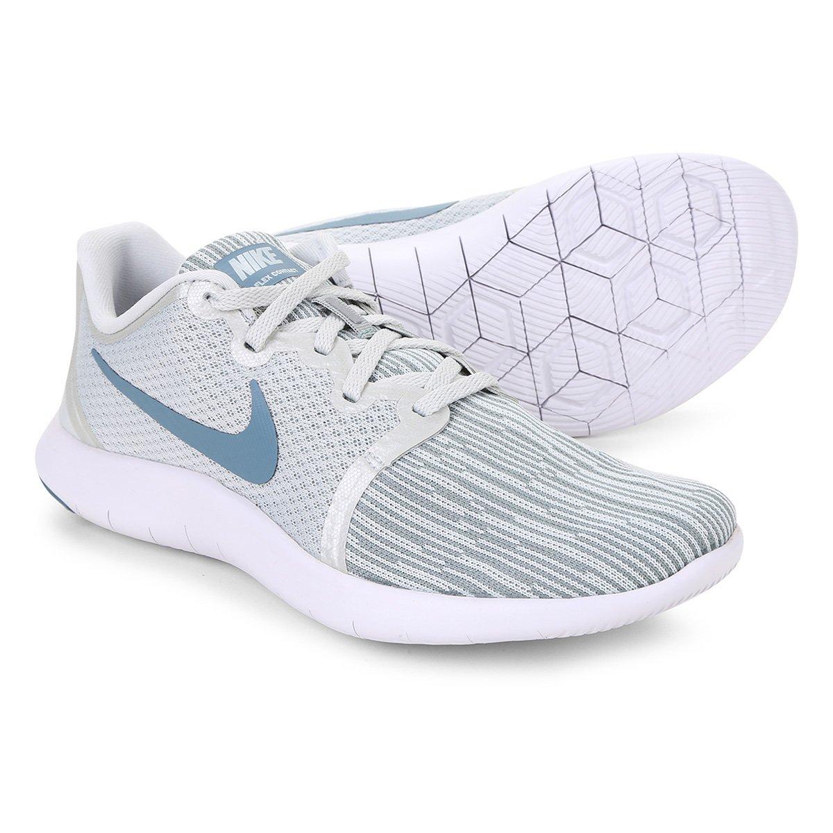 442f089da4e Tênis Nike Flex Contact 2 Feminino - Branco e Azul Petróleo - Compre Agora