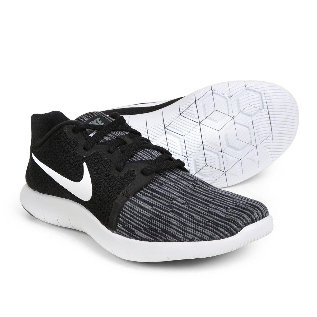 ac084bc9b95a62 Tênis Nike Flex Contact 2 Feminino - Branco e Preto | Loja do Inter