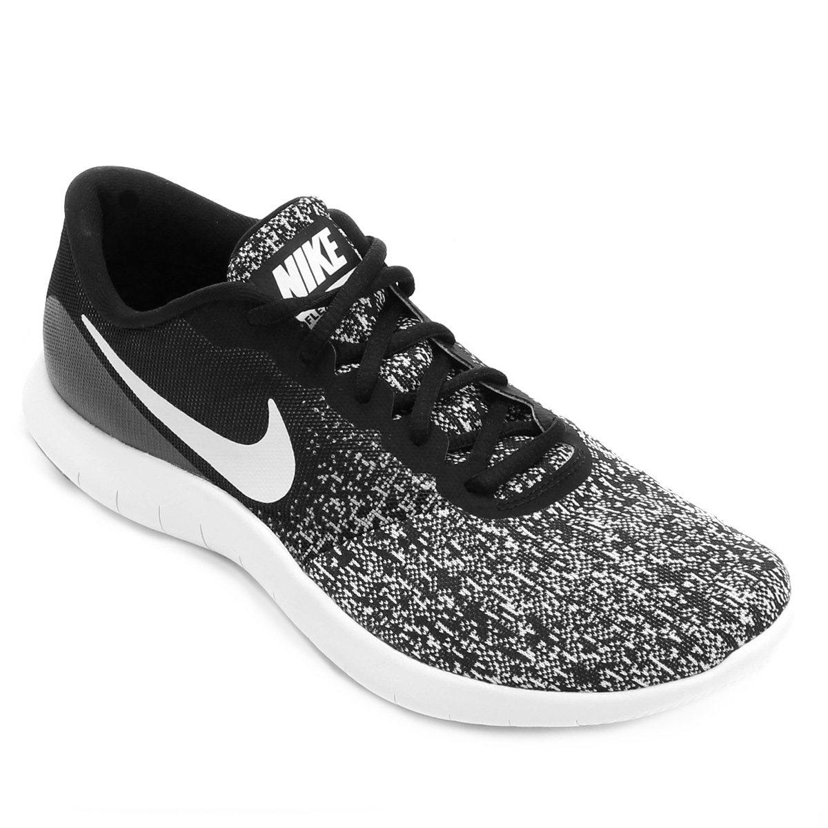 e297370967 Tênis Nike Flex Contact Masculino - Preto e Branco - Compre Agora ...