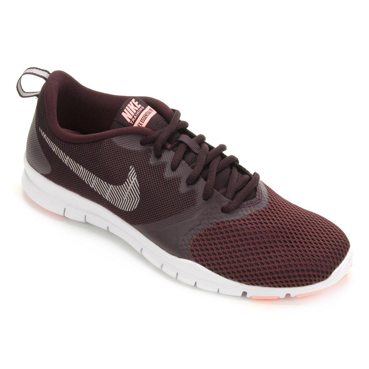 3a232b54da3a9 Tênis Nike Flex Essential TR Feminino - Vinho - Compre Agora
