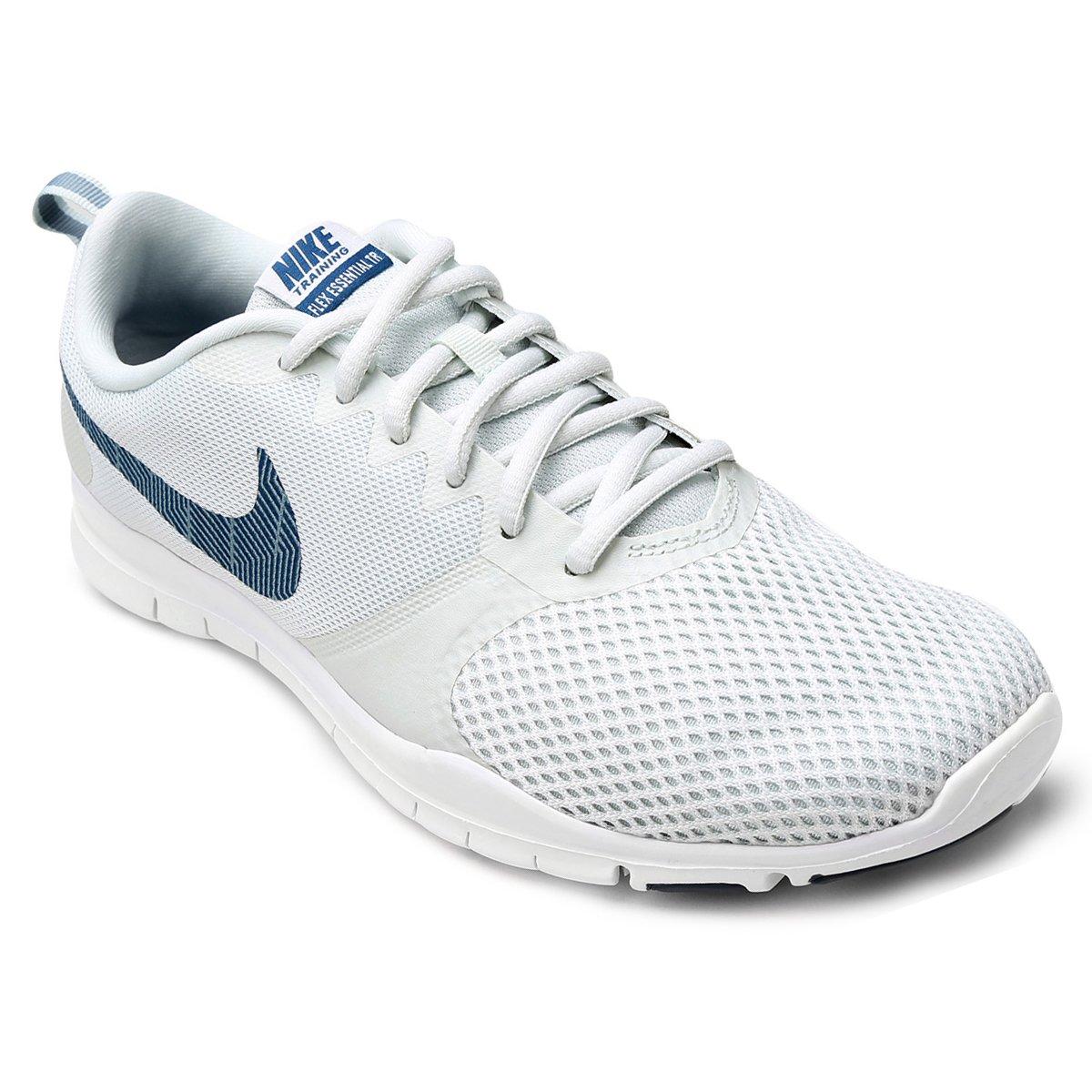 a959505b718 Tênis Nike Flex Essential TR Feminino - Cinza e Azul - Compre Agora ...
