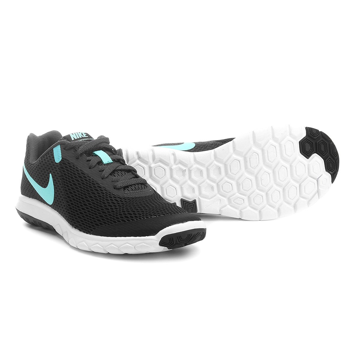 Tênis Nike Flex Experience Rn 6 Feminino - Preto e Azul claro ... cf155db15582c