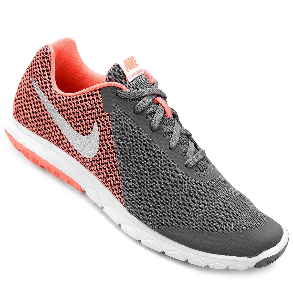 e43b70e6e38 Tênis Nike Flex Experience Rn 6 Feminino - Cinza e Salmão - Compre Agora